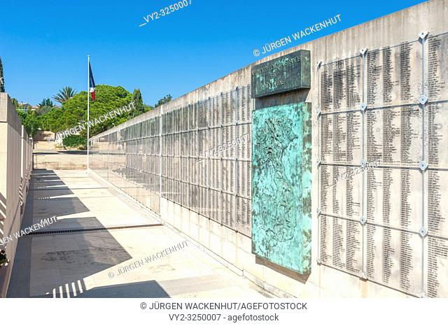 Necropolis for the fallen in the Indochina war, Frejus, Var, Provence-Alpes-Cote d`Azur, France, Europe