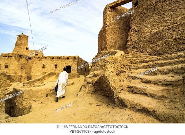 Inside Shali fort. Siwa oasis, Egypt