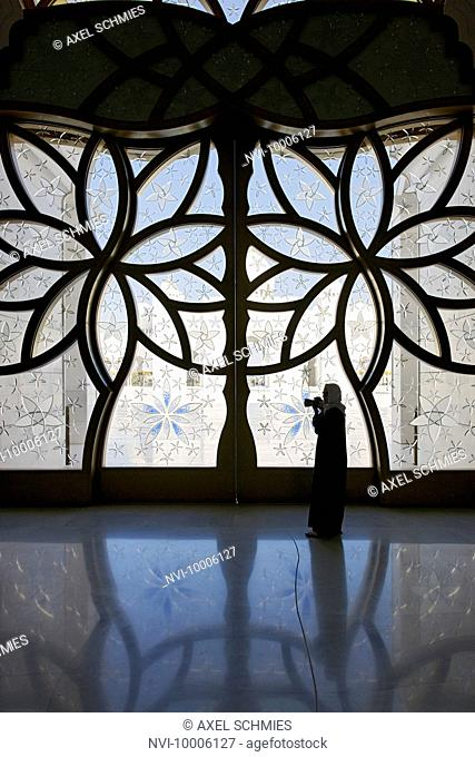 Ornate windows, Sheikh Zayed Grand Mosque, Abu Dhabi, United Arab Emirates
