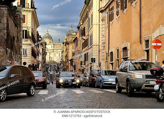 View from Via Santa Maria Maggiore Panisperma, Rome