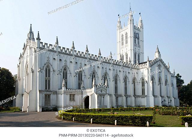 Facade of a church, St. Paul's Cathedral, Kolkata, West Bengal, India