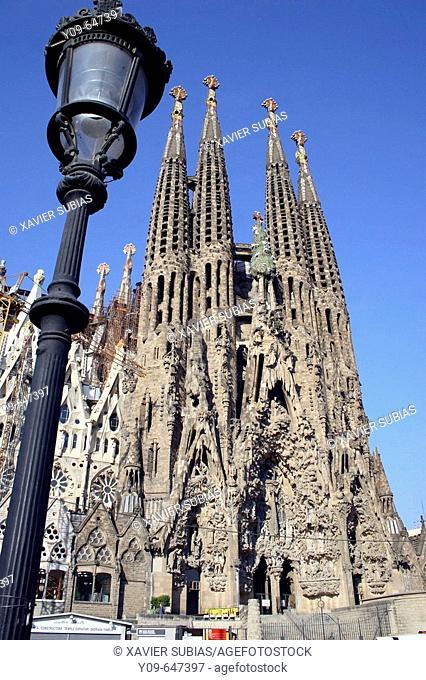 Sagrada Familia by Gaudí. Barcelona. Spain