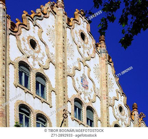Hungary, Budapest, Post Office Savings Bank, art nouveau architecture,