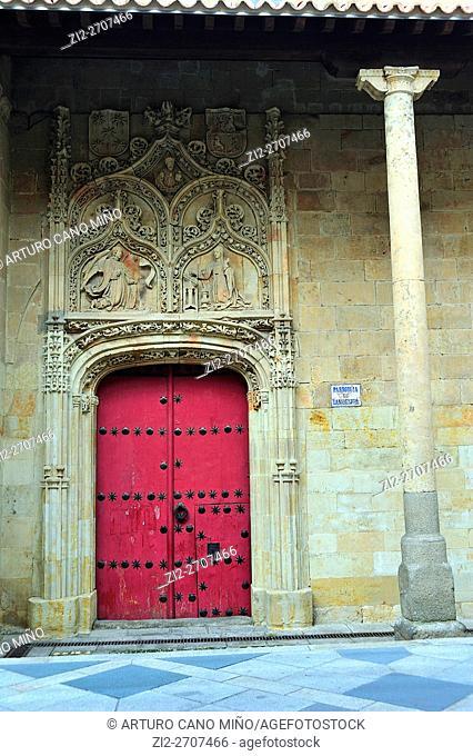 The Gothic church of San Benito, XVI century. Salamanca, Spain