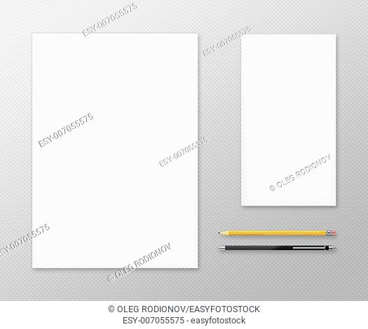 Office Supplies for Designers Presentations and Portfolios. Above view