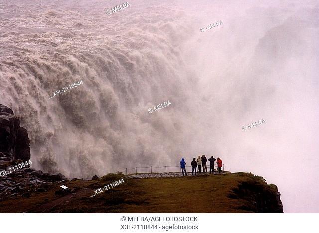 Dettifoss waterfall. Jokulsargljufur National Park. Iceland