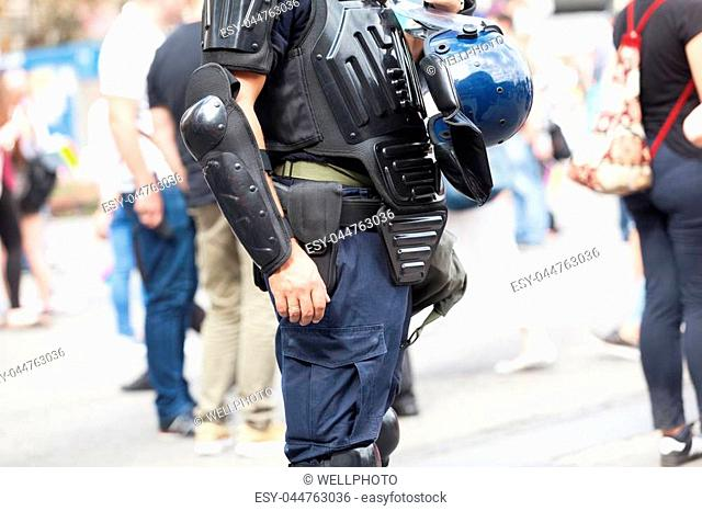 Police officer on duty. Law enforcement