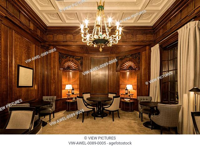 Private club occupying the old boardrooms and offices at Ten Trinity Square. Incorporating meeting rooms, cigar room, wine sampl