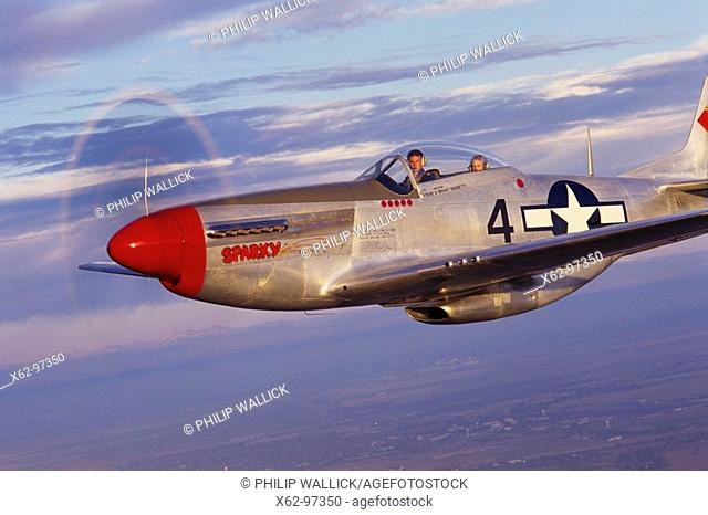 World War II US fighter: 1940's P-51D Mustang, restored