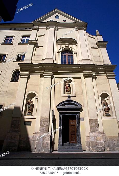 Thomas the Apostle Church at Szpitalna street, Krakow, Poland