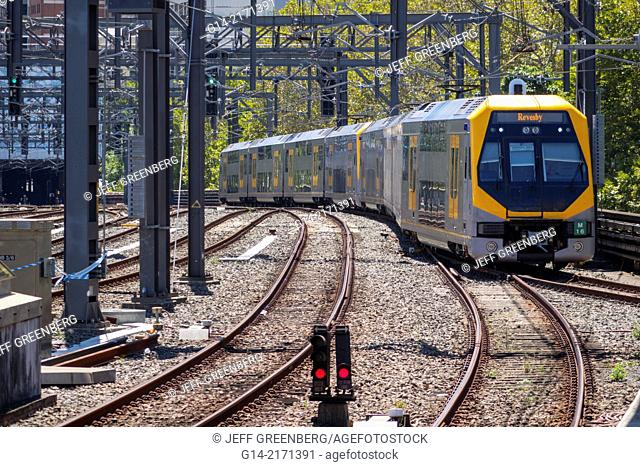 Australia, NSW, New South Wales, Sydney, Haymarket, City Circle Line, Central Station, train, railway, public transportation,