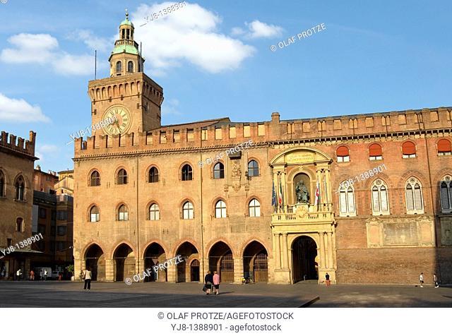 Palazzo di Accusio at the historical city centre of Bologna, Emilia Romagna, Italy