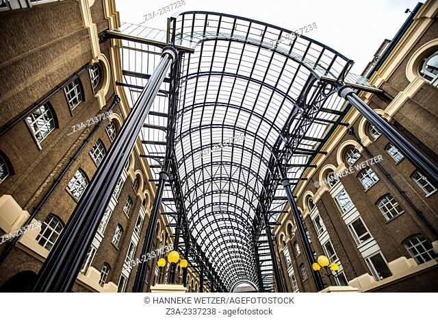 Hay's Galleria is a mixed use building in the London Borough of Southwark situated on the south bank of the River Thames including offices, restaurants
