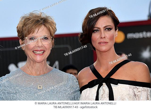 Jasmine Trinca, Annette Bening, Anna Mouglalis during the red carpet of the Awards Ceremony. 74th Venice Film Festival. Venice, Italy 09/09/2017
