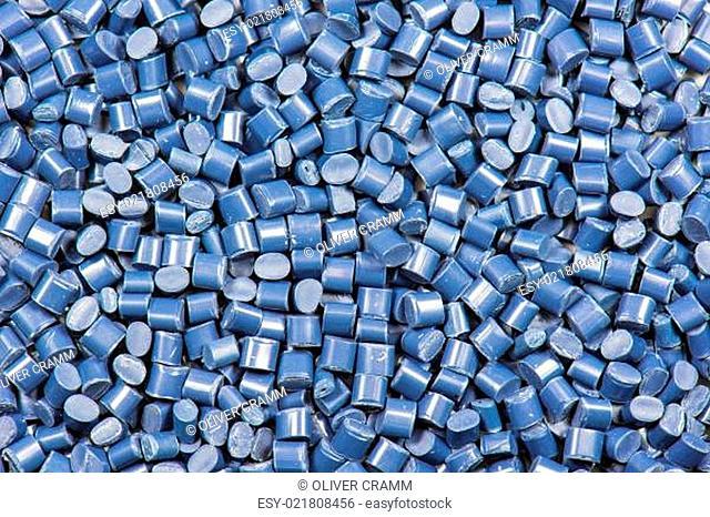 Kunststoff Granulat als Hintergrund
