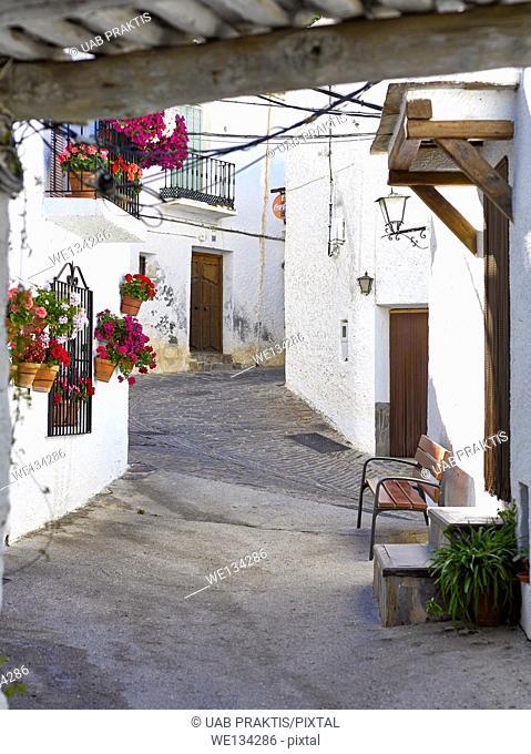 Bubion, village in Poqueira valley, Sierra Nevada, Spain