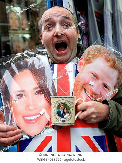 Royal fans arrives outside Lindo Wing of St.Mary's hospital, Paddington in London for the birth of the Duke and Duchess of Cambridge's third baby