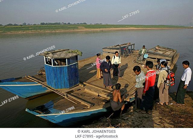 Ferry to Ava, Innwa, formerly Ava, Mandalay, Myanmar