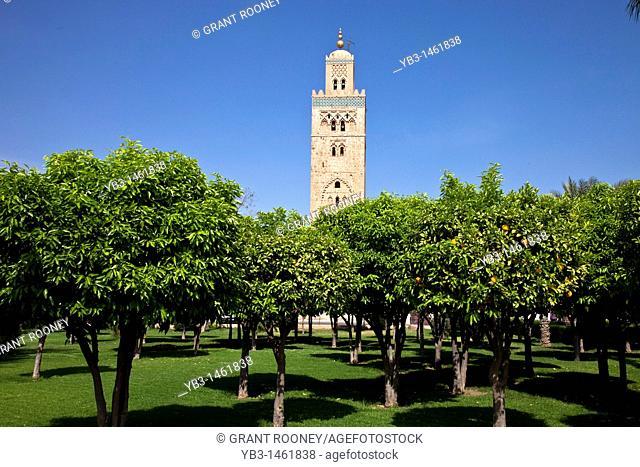The Koutoubia Minaret, Marrakech, Morocco