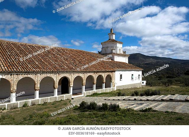 The Shrine of Our Lady of Ara is situated in the foothills of Sierra Morena, about seven kilometers from Fuente del Arco