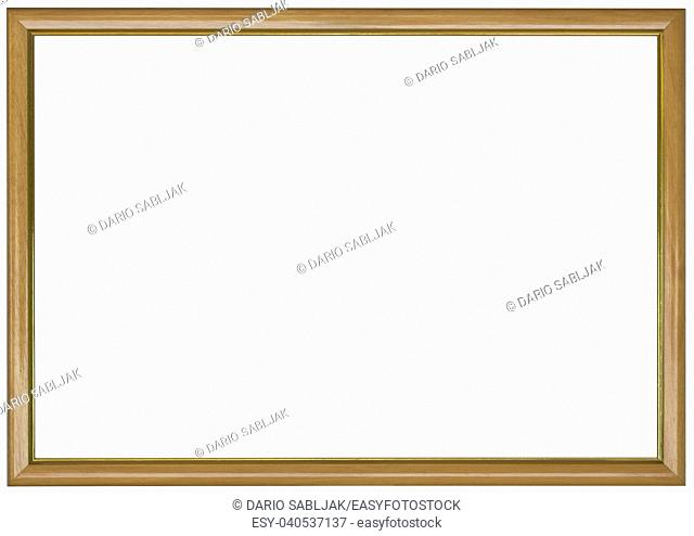 Simple Thiny Beige Panoramic Picture Frame Cutout