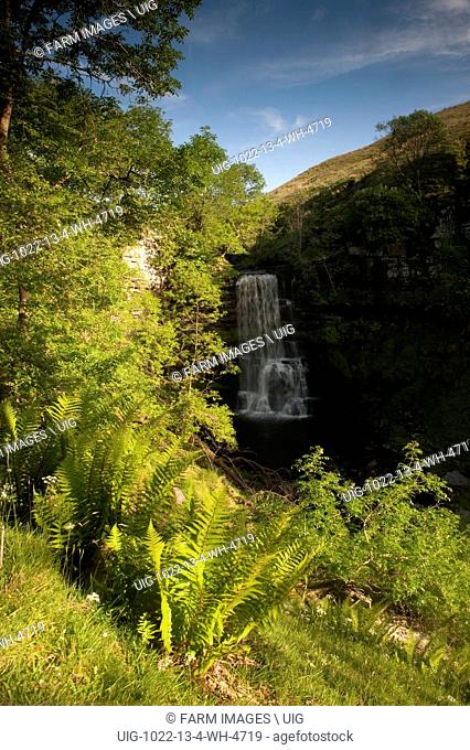 Upper Uldale Falls on the River Rawthey on Baugh Fell at the eastern edge of the Howgill fells. Cumbria - England. (Photo by: Wayne Hutchinson/Farm Images/UIG)