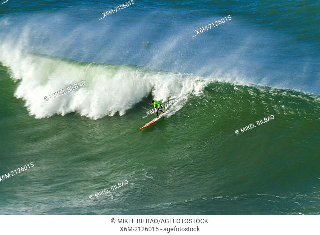 Big waves surf . Puntagalea. Getxo, Biscay, Basque Country, Spain. Europe