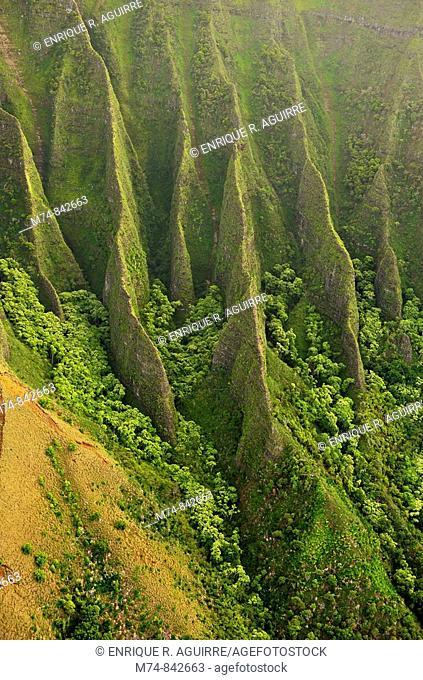 Na Pali Coast aerial view, Kauai, Hawaii