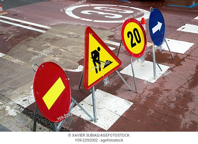 Traffic Signals, Barcelona, Spain