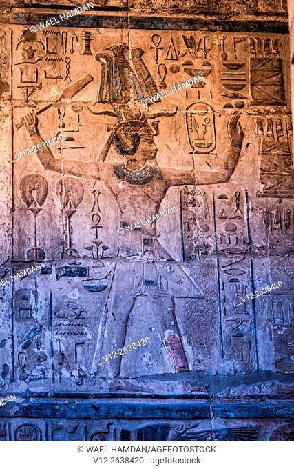Relief of king Ramesses, Temple of Luxor, Luxor city, Egypt