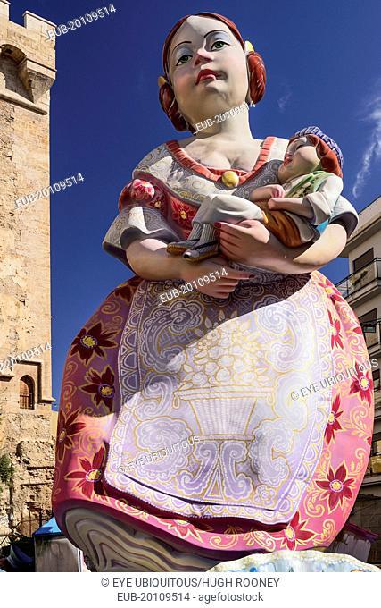 Las Fallas festival, Papier Mache figure at Torres de Quart