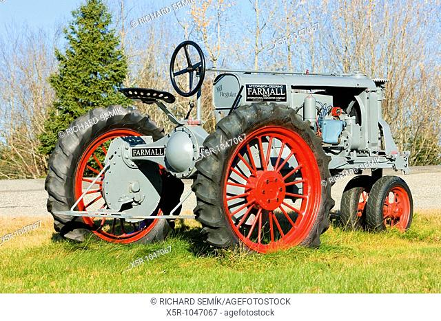 tractor near Jonesboro, Maine, USA