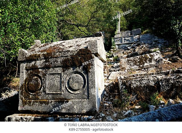 North Necropolis of Termessos. The unexcavated Pisidian city. Ancient Greece. Asia Minor. Turkey