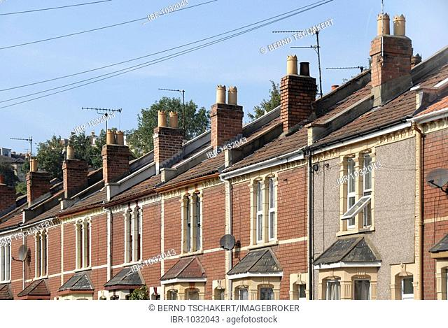 Row of houses, Bristol, England, Great Britain, Europe