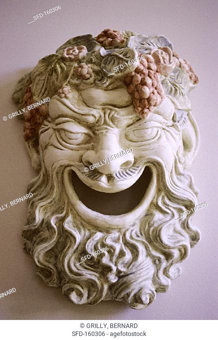 Mask of Bacchus, Roman god of wine, Medoc