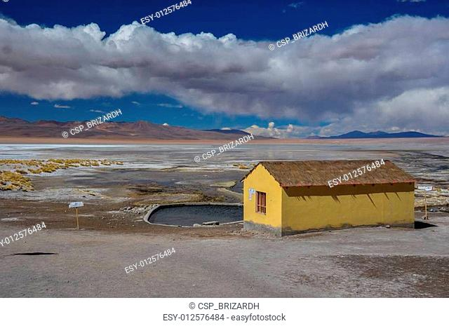 Isolated Thermal station in Sur Lipez, South Bolivia