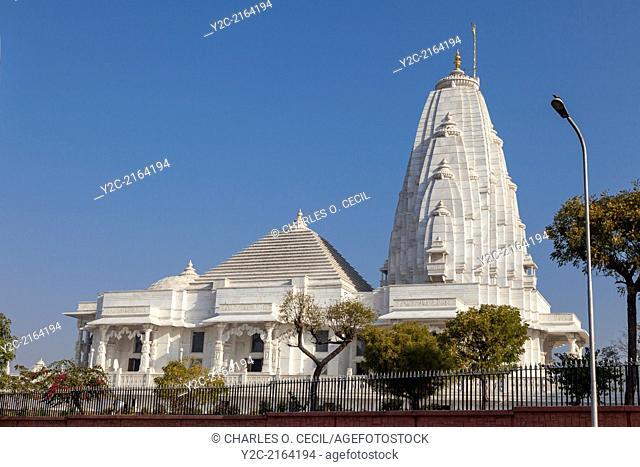 Jaipur, Rajasthan, India. Birla Mande Temple, also known as the Laxmi Narayan Temple, a Hindu Temple dedicated to Lord Vishnu (Narayan) and his consort Lakshmi