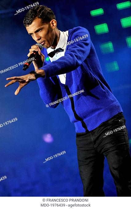 The singer-songwriter Stromae in a photo shooting at the TRL Awards. Genoa, Italy. 8th May 2010