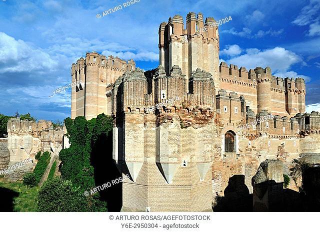 Coca Castle in Segovia. Spain