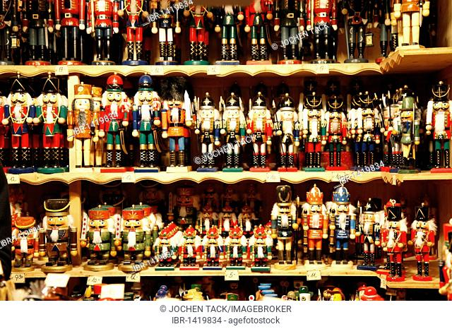 Miniature houses, figurines, Christmas village, Christmas market at the cathedral, old town, Salzburg, Austria, Europe