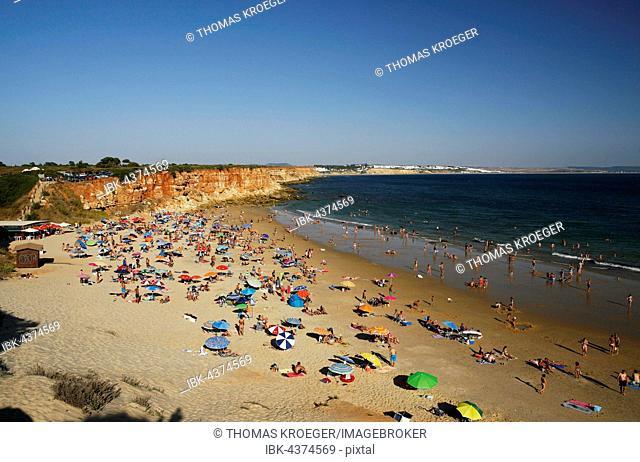 Sandy beach, cove, Cala Del Aceite, Fuente del Gallo, Atlantic Coast, Andalucía, Spain