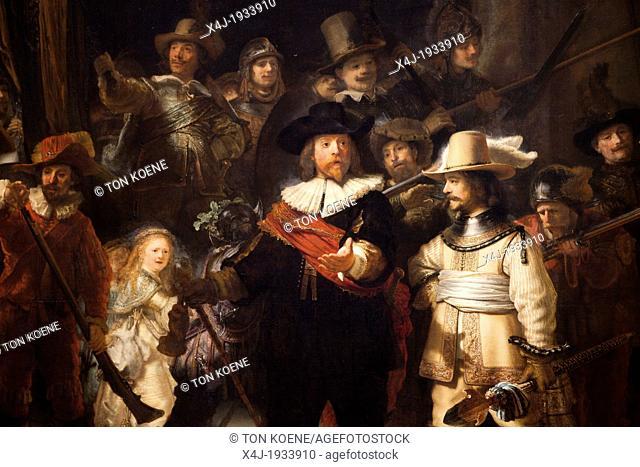 de nachtwacht by Rembrandt van Rijn, Night Watch at the rijksmuseum