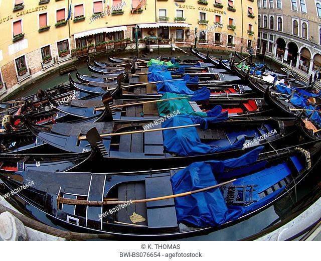 Venice, gondola harbour, Italy, Venetia, Venice