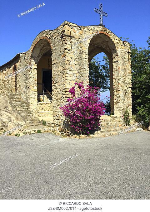 Italy, Liguria, Alassio, Punta Santa Croce, Chiesa di Santa Croce, Church. . .