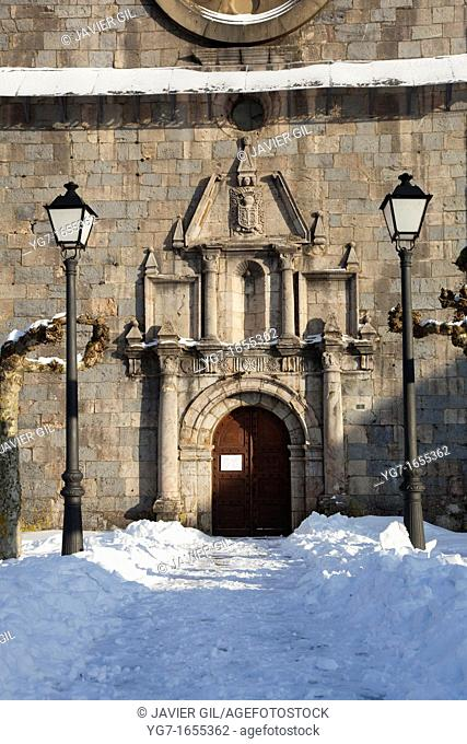 Church of Burguete, Navarra, Spain