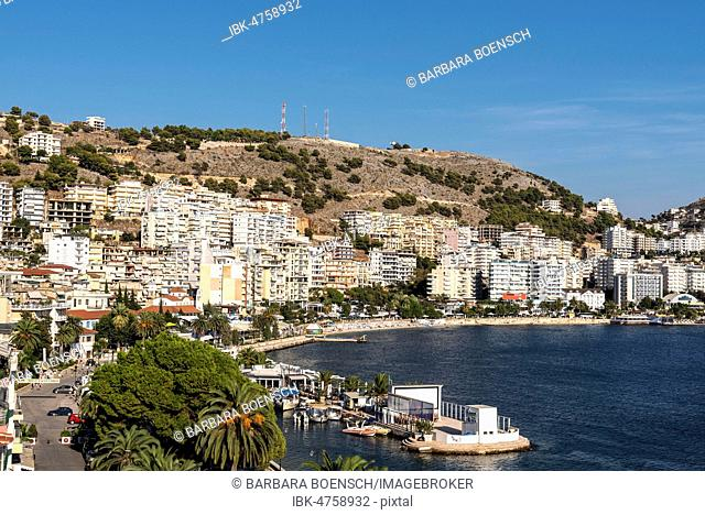Promenade, city view, Saranda, Ionian Sea, Albania