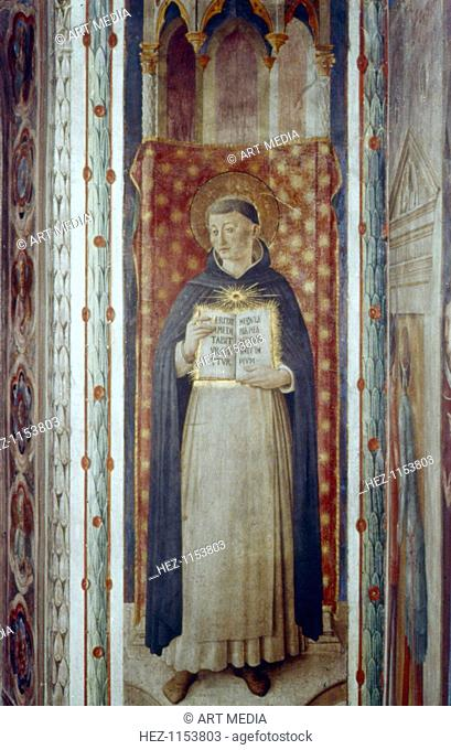 'St Thomas Aquinas', mid 15th century. St Thomas Aquinas (1226-1274), Italian scholastic philosopher, Christian theologian and member of the Dominican order
