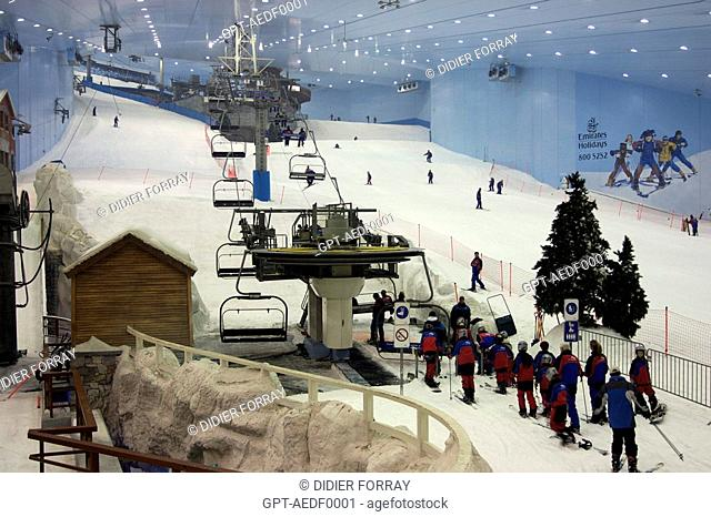 SKI DUBAI INDOOR SLOPE INTERIOR LIFT MALL OF THE EMIRATES
