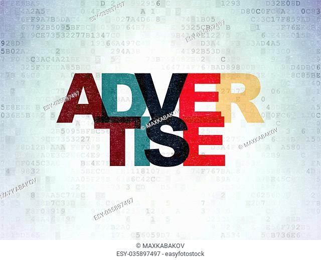 Marketing concept: Advertise on Digital Data Paper background