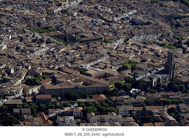 Aerial view of a city, Provence, France